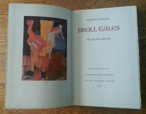 droll tales the second decade covici friede 1929 no dw