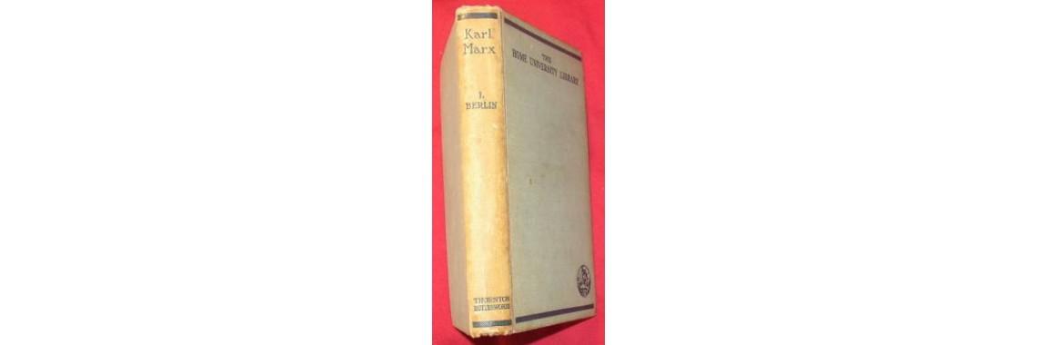 Berlin, Isaiah. Karl Marx. London. 1939